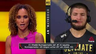 Khabib Nurmagomedov talks to the UFC on FOX crew -  INTERVIEW -  UFC 223