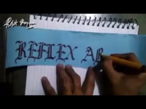 Reflex Arc || CALLIGRAPHY USING CHISEL TIP MARKER