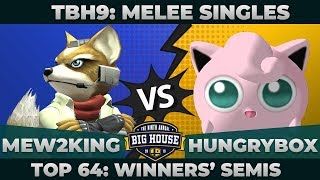 Mew2King vs Hungrybox - Top 64 Winners' Semifinals: Melee Singles - TBH9 | Fox vs Puff