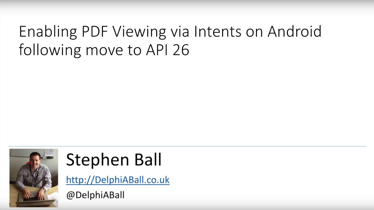 Opening a PDF Document on Android with Delphi - YouTube
