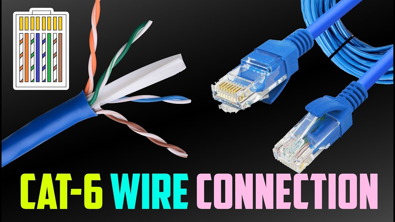 broadband cat6 plug cable connection color sequence [ 1280 x 720 Pixel ]