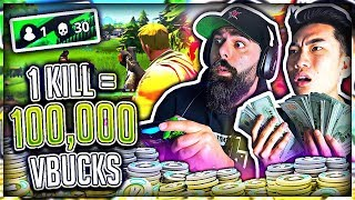 1 Kill = 100,000 V-Bucks in Fortnite w/ My Dad (Battle Royal)