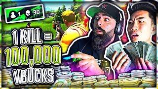 1 Kill -100 000 V-Bucks in Fortnite w/ My Dad (Battle Royal)