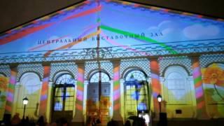 2016 03 05 Москва, Манежная площадь, Аэрофлот Весна, световое шоу