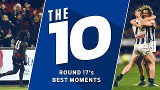 The 10 best moments from round 17, 2019 | AFL
