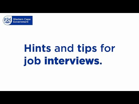 Preparing for an interview | Western Cape Government