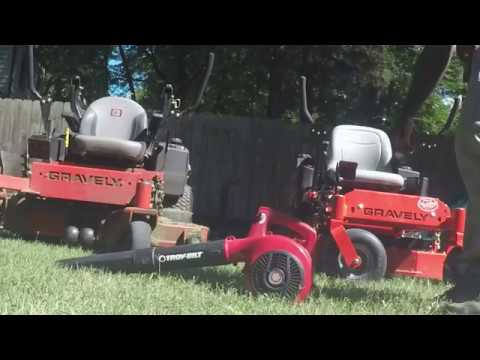 Cleaning Gravely Mowers - 240 fps slow motion - Gopro Hero 5
