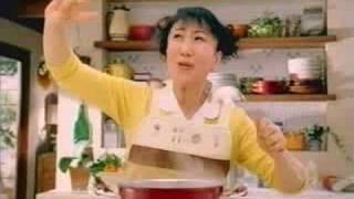 Glico's curry product, Nidan Juku Curry, starring Muroi Shigeru. Ai...