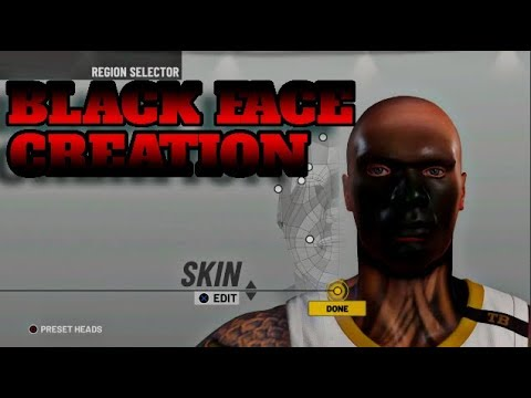 HOW TO GET BLACK FACE SCAN IN NBA 2K19! BLACK FACE CREATION
