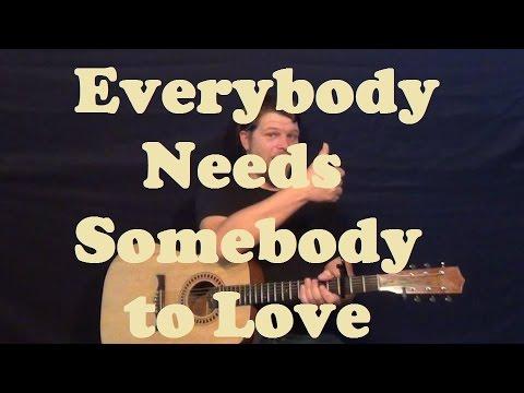 Everybody Needs Somebody To Love (Wilson Pickett) Easy Strum Guitar ...