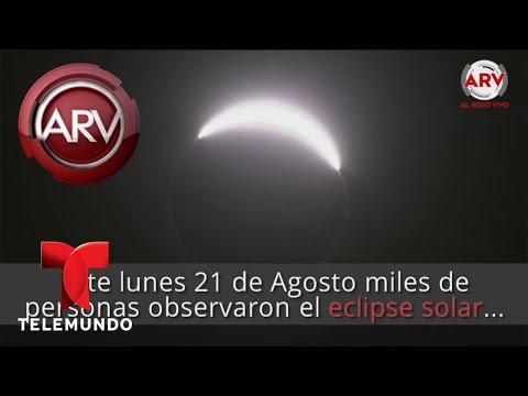 Extrañas sombras cubren la Tierra durante el eclipse solar   Al Rojo Vivo   Telemundo