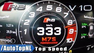 AUDI R8 V10 PLUS ACCELERATION & TOP SPEED 0-333km/h LAUNCH CONTROL by AutoTopNL