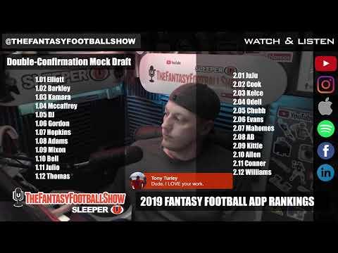 2019 Fantasy Football ADP Rankings + Live Mock Draft