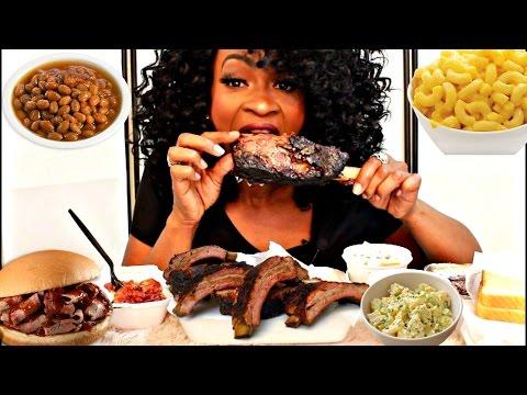 MUKBANG: SOUTHERN BARBECUE FEAST! EATING SHOW! YUMMYBITESTV