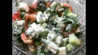 салат с сыром брынза рецепты ШОК