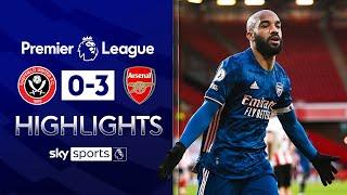 Lacazette scores 50th Gunners goal! | Sheff Utd 0-3 Arsenal  | Premier League Highlights