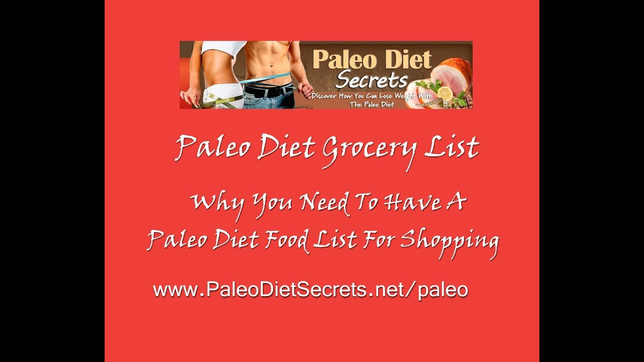 Your paleo diet grocery list a paleo diet food list helps you to your paleo diet grocery list a paleo diet food list helps you to shop correctly malvernweather Choice Image