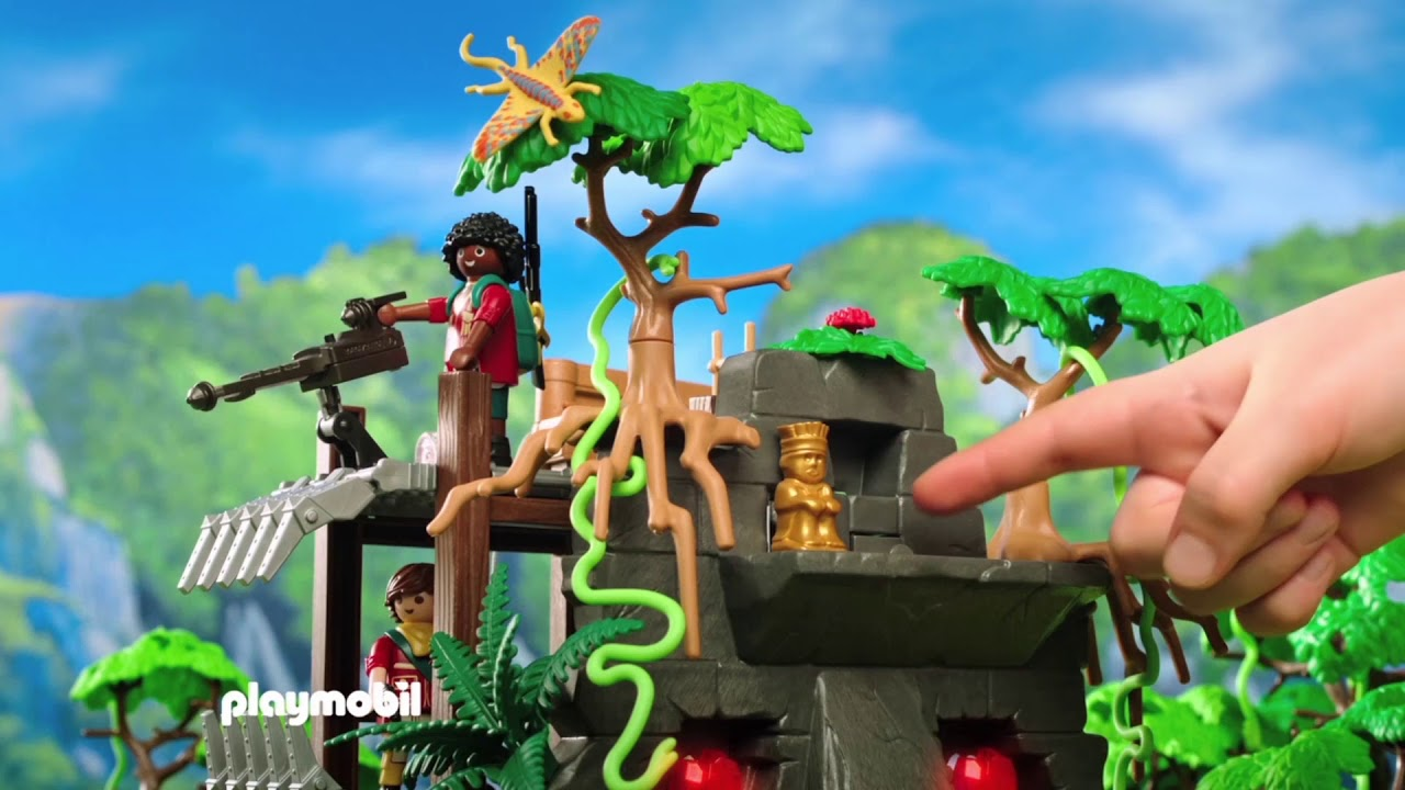 The Playmobil · Explorers Toys Con Mansion Coche Triceratops CeWodrBx