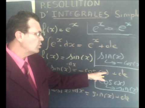 Cours vidéo gratuit mathématique : les intégrales simples