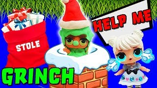 LOL Surprise Dolls Theater Club Perform The Grinch! Featuring Sugar Queen, Super BB & Court Champ!