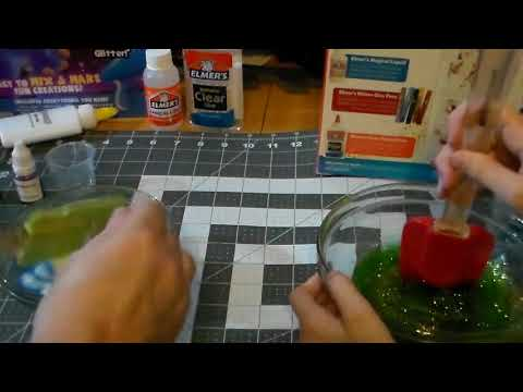 Arcmatter & Pirate Penny Make Slime For The Holiday Special Elmers Vs $4 Dollar Brand