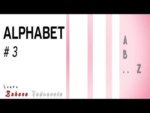 Learn Bahasa Indonesia #3 - [Alphabet]
