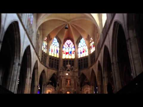 St. Etienne cathedral, Toulouse. Baptizing ceremony