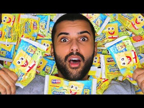 EATING 500 SPONGEBOB POPSICLE'S FOR NO REASON!!!! (FINALLY!!!)