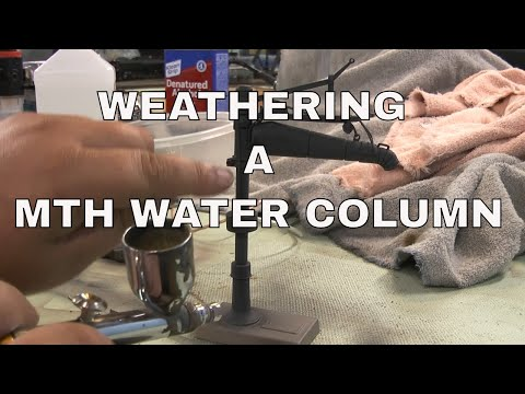 Weathering a O Scale water column