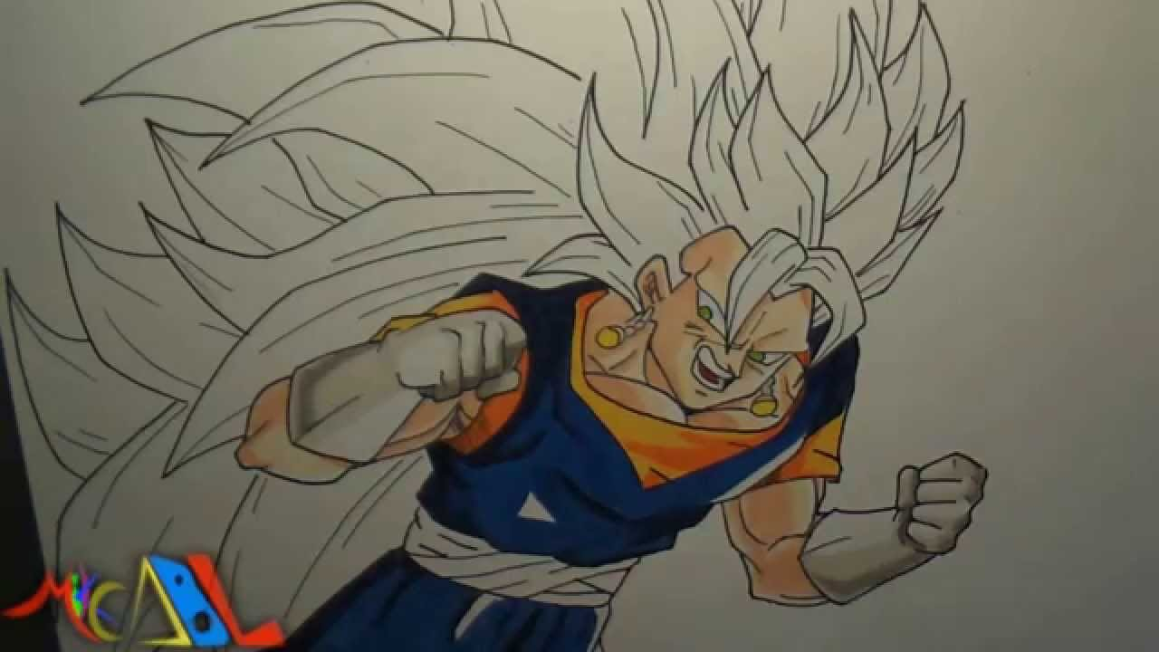 Dibujando a: Vegetto SSJ3 - YouTube