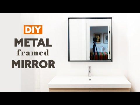 DIY Metal Framed Mirror | How to Make