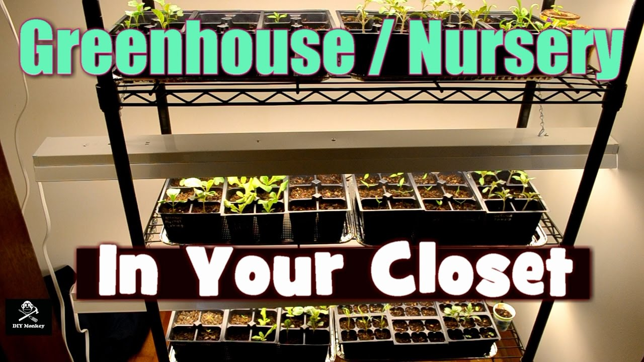 Build A Closet Greenhouse Nursery Start Seeds Indoors Fast And Easy