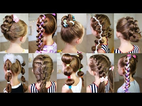 10 cute 3-MINUTE hairstyles for busy morning! Quick and easy hairstyles for school! thumbnail