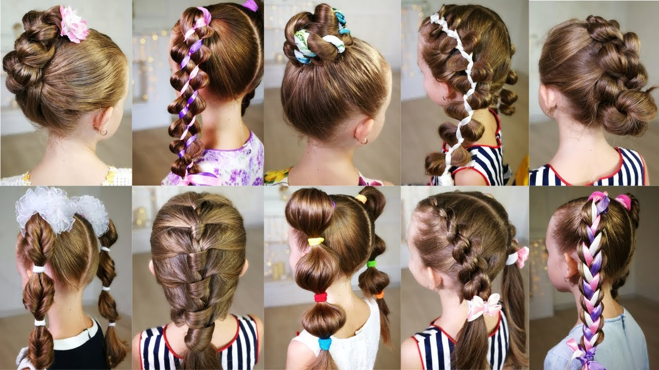 10 cute 3,MINUTE hairstyles for busy morning! Quick and easy hairstyles for  school!