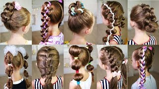 10 cute 3-MINUTE hairstyles for busy morning! Quick and easy hairstyles for school!
