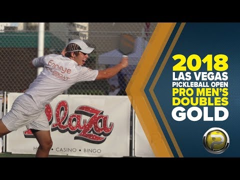 PRO Men's Doubles Gold Medal Match From The 2018 Las Vegas Pickleball Open