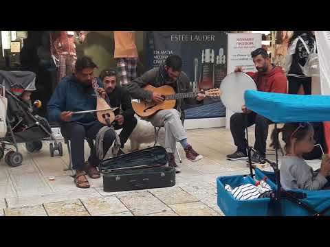 traditional music in Corfu old city