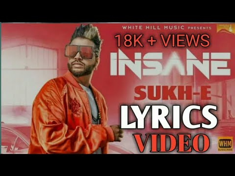 Insane (full lyrics song)Sukhe  new...
