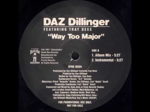 "Daz Dillinger Ft Tray Dee - Way Too Major - 12"" Priority Records 1997 - GANG ""RELATED"" FUNK"