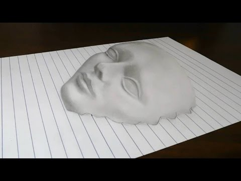 Thumbnail: Drawing a 3D Face on Line Paper Trick Art