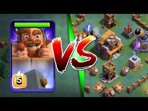 1 BATTLE MACHINE vs ENTIRE BUILDERS VILLAGE!! - WILL THIS WORK!? - Clash Of Clans