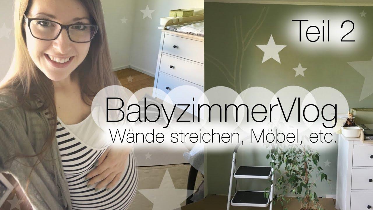 Babyzimmer wände streichen  ☆ DIY - Babyzimmer Vlog #2 I Wände streichen, Möbel, etc ...