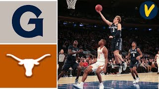 2019 College Basketball Georgetown vs #22 Texas Highlights