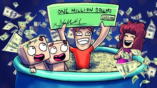 Minecraft | WHO'S YOUR DADDY! Baby is a MILLIONAIRE! (Dad Wins Lottery)