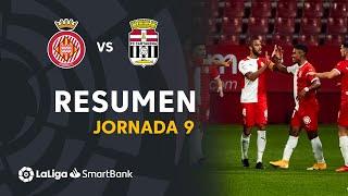 Resumen de Girona FC vs FC Cartagena (2-1)