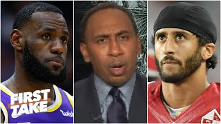 Stephen A. reacts to LeBron saying Colin Kaepernick deserves an apology from the NFL | First Take