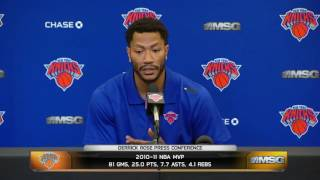 Derrick Rose on Coming to Knicks   Press Conference ¦ June 24, 2016 ¦ 2016 NBA Offseason