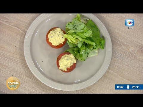 Laurent Lainé preparó tomates rellenos