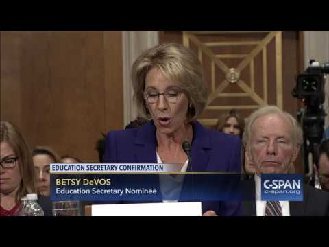 Secretary of Education Nominee Betsy DeVos Opening Statement (C-SPAN)