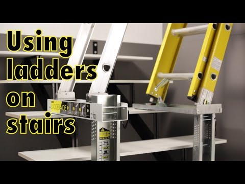 Ladder-Aide and Ladder-Aide Pro: How to use a ladder on stairs easily and safely